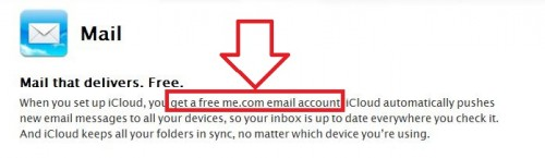 E-Mailfunktion der iCloud