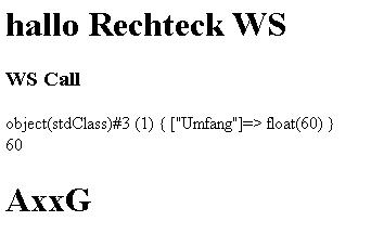 Demo-Webseite für einen Web Serice Call