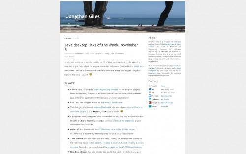 Jonathan Giles Blog