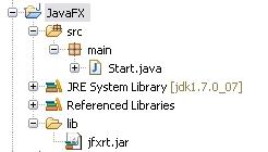 Eclipse JavaFX Projekt