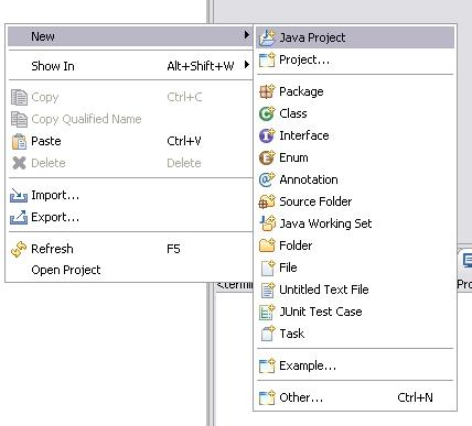 Neues Eclipse JavaFX Projekt anlegen