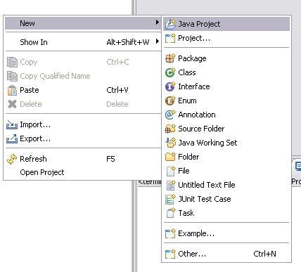 Neues Eclipse JavaFX Projekt anlegen